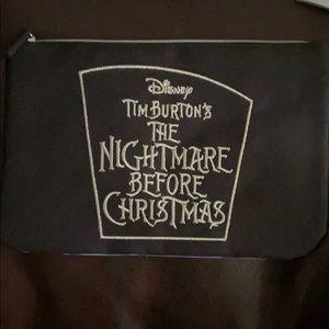 NWT Disney nightmare before Christmas zip bag